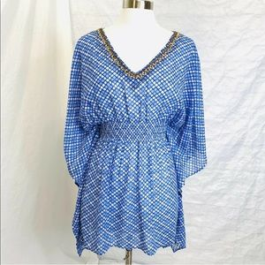 Travelsmith Dolman Beaded Top Cover Up